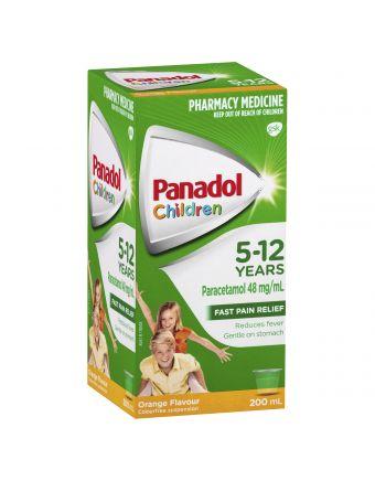 PANADOL CHILD 5-12 YRS ORANGE 200ML