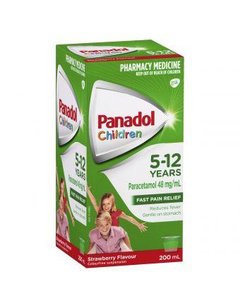 PANADOL CHILD 5-12 YRS STRAWBERRY 200ML