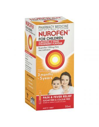 NUROFEN CHILD BABY 3MTH STRAWBERRY 50ML