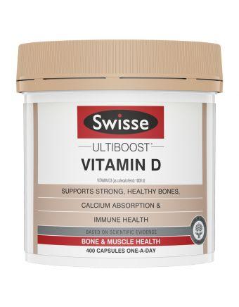 SWISSE ULTIBOOST VITAMIN D 400 CAP