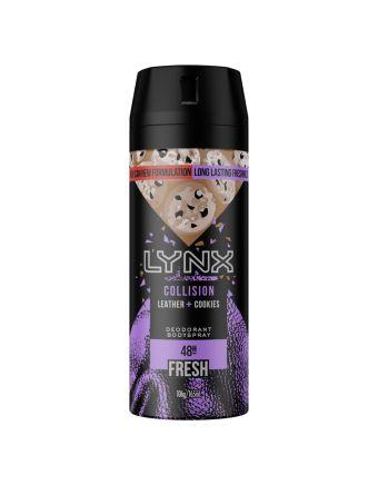 Lynx Deodorant Aerosol Collision Leather + Cookies 165mL