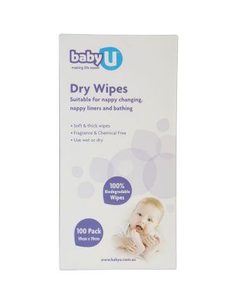 Baby U Dry Wipes 100 Pack