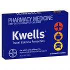 Kwells Travel Sickness Chewable Tablets 12 Pack