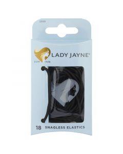 Lady Jayne Black Snagless Elastics - Pk18