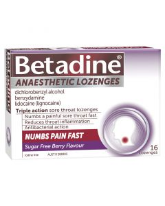Betadine Anaesthetic Lozenges Berry 16 Pack