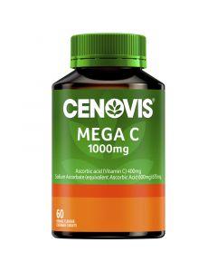 CENOVIS MEGA C 1000MG ORANGE FLAVOUR TABLETS VALUE PACK 60