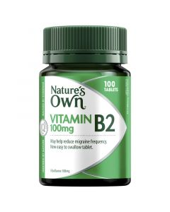 Nature's Own Vitamin B2 100mg Tablets 100