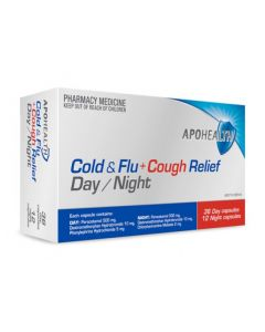 Apohealth PE Cold & Flu + Cough Relief Day & Night 48 Capsules