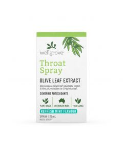 Wellgrove Throat Spray Olive Leaf Extract 25mL